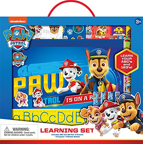 Paw Patrol ABC & 123 Learn to Write Practice Set for Girls & Boys with Erasers, Crayons & Sticker Sheets