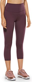 CRZ YOGA Women's Naked Feeling II High Waist Leggings Capri Yoga Pants Tummy Control -21 Inches