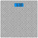 Escala digital de peso corporal de precisión Square Conjunto gris Báscula de...