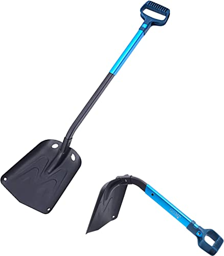 lowest Portable 2021 Snow Shovel, Lightweight Extendable Snow Removal Tool, Aluminum Telescopic Winter Snow Shovel for Home, Camping, 28-37In popular Adjustable outlet online sale