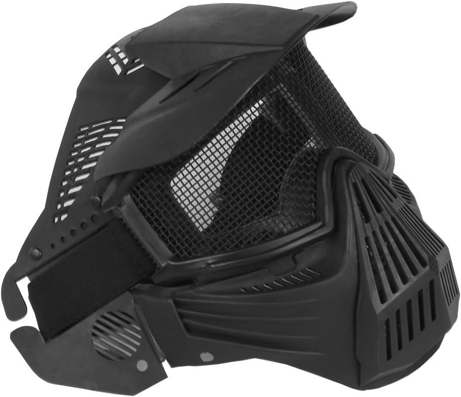 FOJMAI Máscara protectora para airsoft de cara completa, cómoda de malla para paintball, máscara táctica para motocicleta, Halloween, BBs, pistola, juego CS