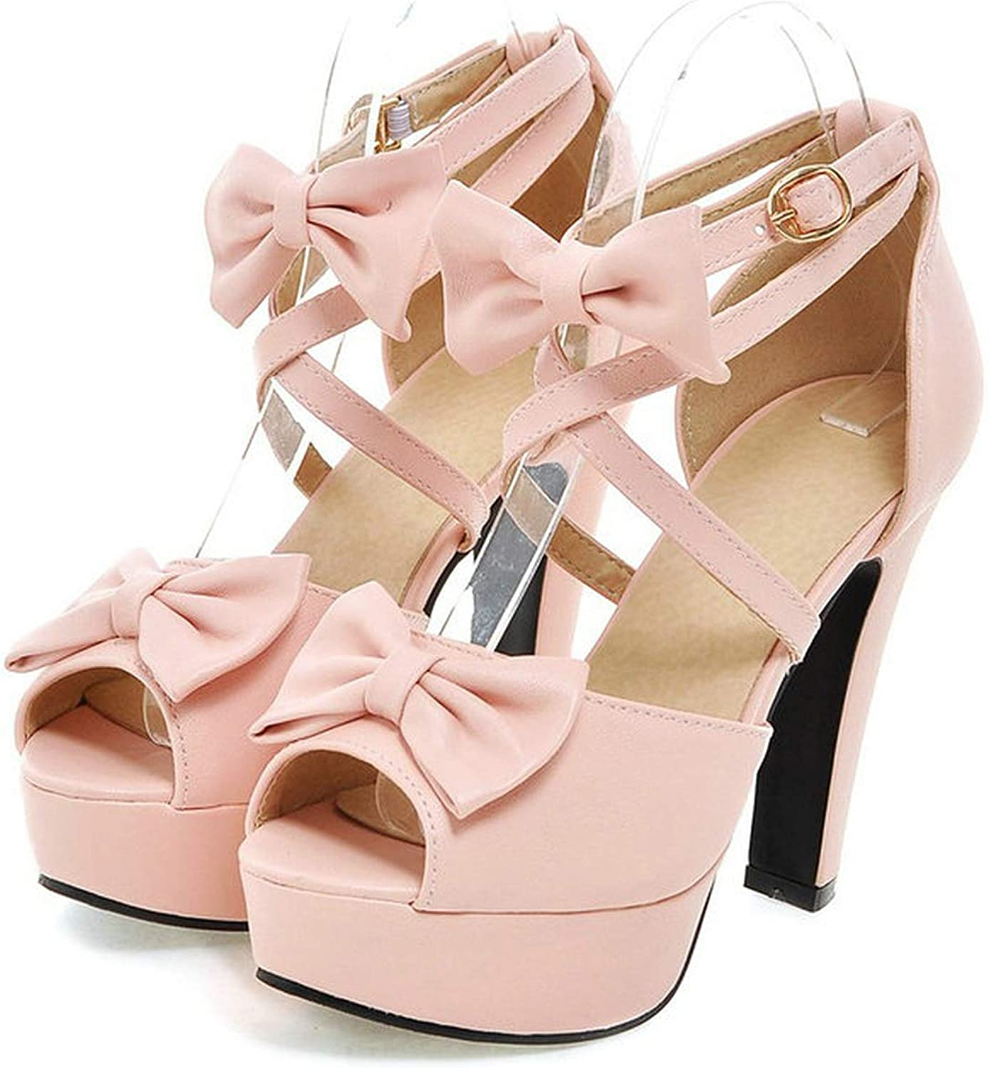 Ladies shoes 11.5cm high Heel Sandals Candy color Bowties Girl's Open Toe Casual Summer shoes