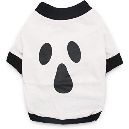Dog Halloween T Shirts.Amazon Com Droolingdog Dog Halloween Shirt Ghost Costume Pet Tshirt Dog Tees For Small Dogs Xs White Pet Supplies