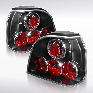 Autozensation For Volkswagen Golf MK3 GTI Euro Black Rear Altezza Tail Brake Lights Pair