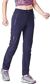 Gopune Women's Outdoor Hiking Pants Lightweight Quick Dry Water Resistant Mountain Trouser
