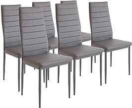 Zestaw krzeseł do jadalni Albatros MILANO, dla 6 osób, kolor szary