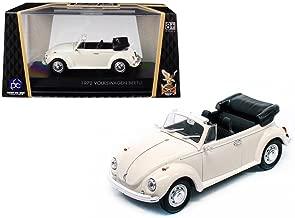 Road Signature 1972 Volkswagen Beetle Open Top Convertible Cream 1/43 Diecast Model Car