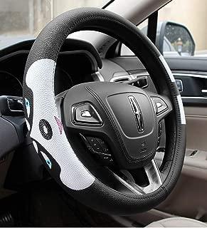 B-Sin Husky Steering Wheel Cover,Microfiber Leather Auto Car Steering Wheel Cover Universal 15 inch