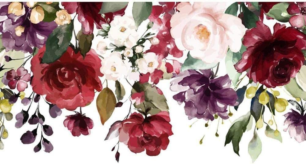 Cross Stitch Kits Watercolor Flowers stitc- DIY 40X50cm fo New Popular overseas Shipping Free