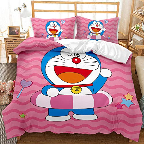 Hbvvaceo Kids Duvet Cover Set King 3D Print Bedding Set for Boys Men Decorative Cartoon anime character Microfiber Polyester Comforter Cover with 2 Pillow Shams, Zipper Closure, Colorful 3 Pieces 240