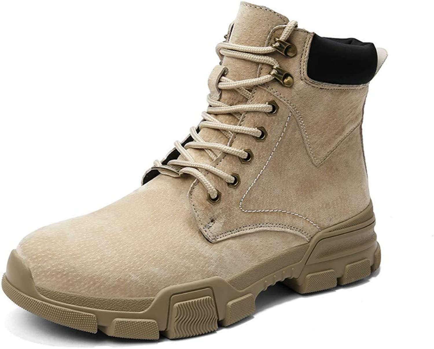 SuperDuo Men's Motorcycle Duty Work Boots - Lace Up Winter Ankle Boot Military Tactical Combat Hiking Boots