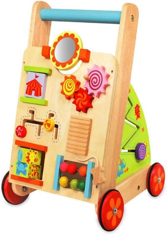 Multi Activity Walker Wooden Push Wagon