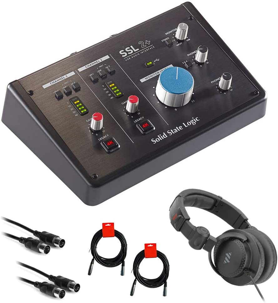 SSL SSL2+ USB Max 43% OFF Audio Interface Studio Be super welcome Headpho Bundle Monitor with