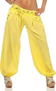 Amazon Es Amarillo Pantalones Mujer Ropa