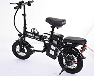SALE & CLEARANCE Folding Electric Bike, 250W Electric Bike Suitable for Adults and Teenagers Removable Battery Fat Tire El...
