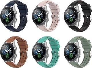 Gransho Correa de Reloj Compatible con Galaxy Watch 42mm / Watch 3 41mm / Watch Active, Blando Silicona Narrow Delgada Dep...