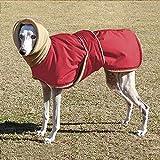IUOU Abrigo Impermeable para Perros, Ropa para Perros súper cálida y Gruesa para Perros medianos, Galgos, Lobos y Perros pastores