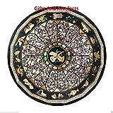 Gifts And Artefacts Table Ronde en marbre de Forme Ronde pour Bureau ou réunion avec Wok aléatoire pour Ajouter Un Look Royal à...