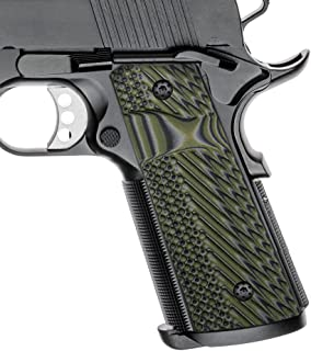 Cool Hand 1911 Slim G10 Grips, Full Size(Government/Commander), Magwell Cut, 3/16 Thin, Ambi Safety Cut, OPS Texture, These Grips Only Work with Short Bushings