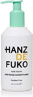 Hanz de Fuko Premium Anti-fade Conditioner: Vegan Conditioner for Color Treated Hair (8oz) Paraben Free