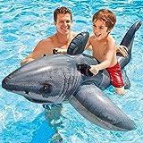 YCRCTC Egoes Gran tiburón Blanco Paseo Inflable for Adultos Piscina for niños balsa del Flotador