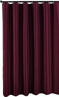 Biscaynebay Fabric Shower Curtain Liner Water Resistant Bathroom 72 X72 Burgundy