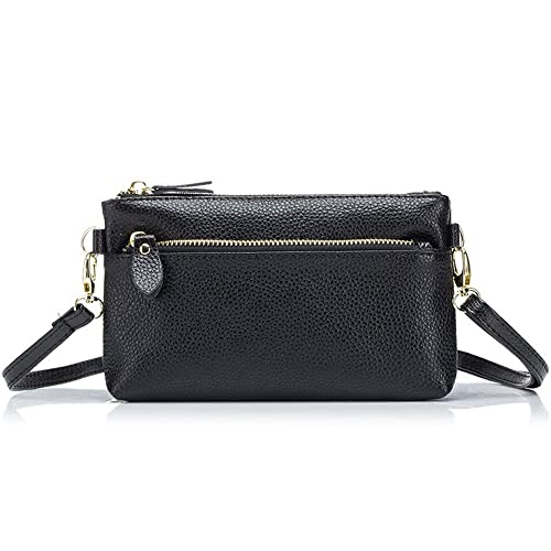 0dce259f98 Aladin Small Leather Crossbody Bag Wristlet Purse 2 In 1 Handbag for Women  Teen Girls