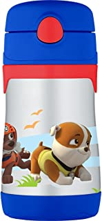 Thermos Vacuum Insulated Stainless Steel 10-Ounce Straw Bottle, Paw Patrol