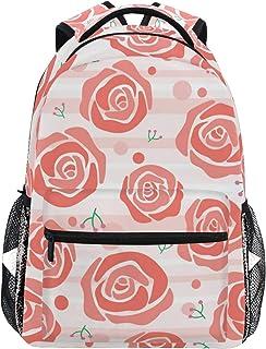 1418207aecfecf Zaino Scuola Anguria Rosa Rossa e Striscia per Ragazzi Ragazze Borsa da  viaggio per bambini