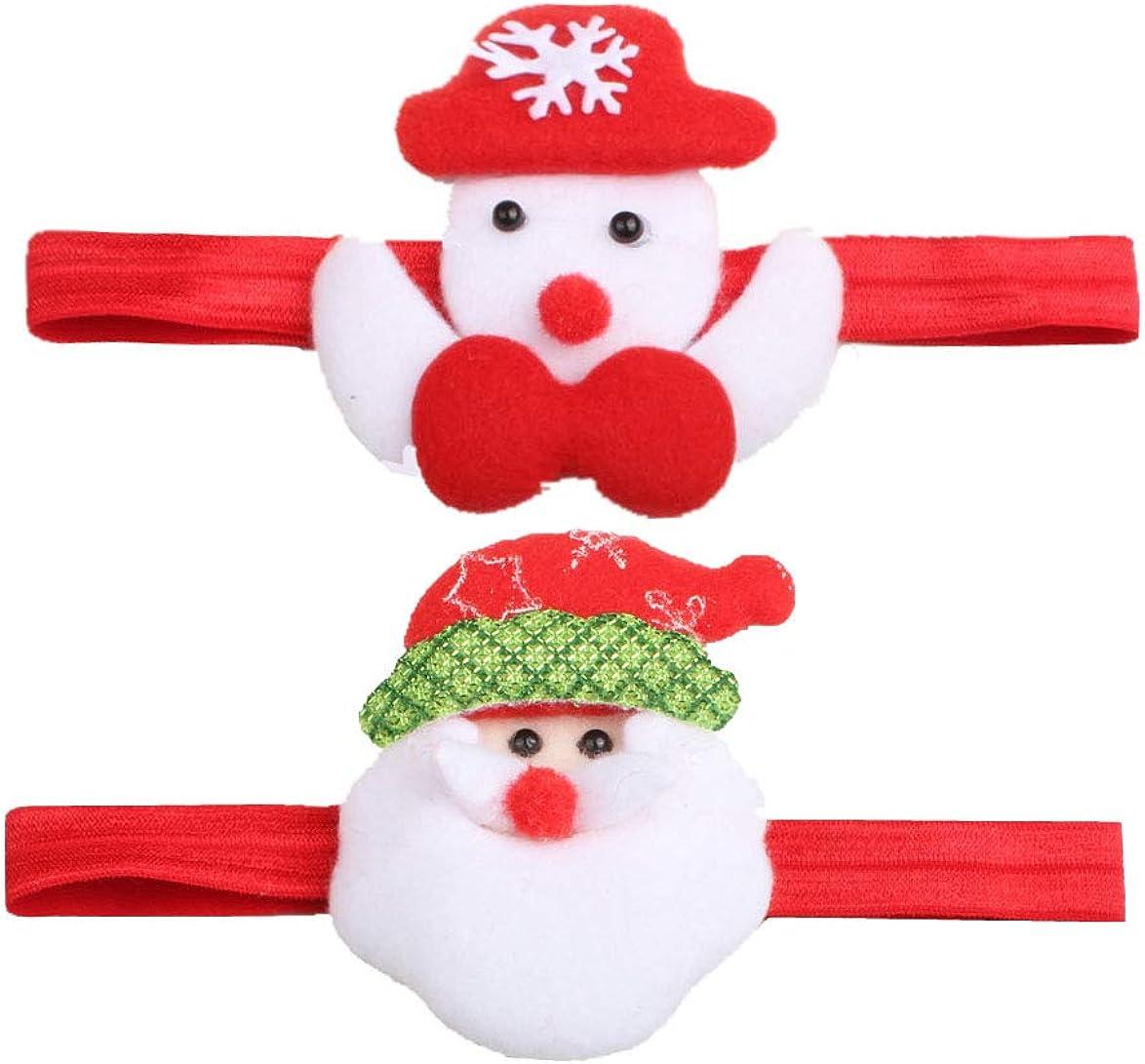 Christmas Headband for Baby Girls Turban Santa Claus Snowman Deer Hair Band JHC68