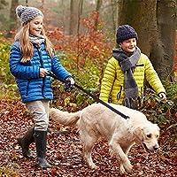 SHUHAO 反射パッド入り犬の鎖二つは、7色の鉛耐久性のある小中大犬ペットトレーニングリーシュナイロンハンドル (Color : Red and Black, Size : L 1.8M (5.9FT))