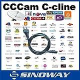Cuenta Cline servidor CCCAM MU para la validez 1 año, usted puede comprar directamente, receptor de apoyo anyTV-c cline para Europa CCCAM C línea