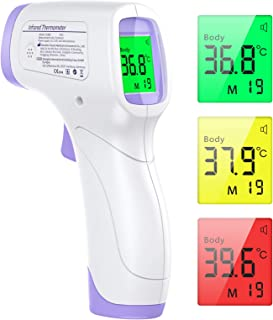 Termómetro Infrarrojos, KKmier Termometro Digital Infrarrojo sin Contacto con Pantalla LCD,Termómetro Infrarrojos médico p...