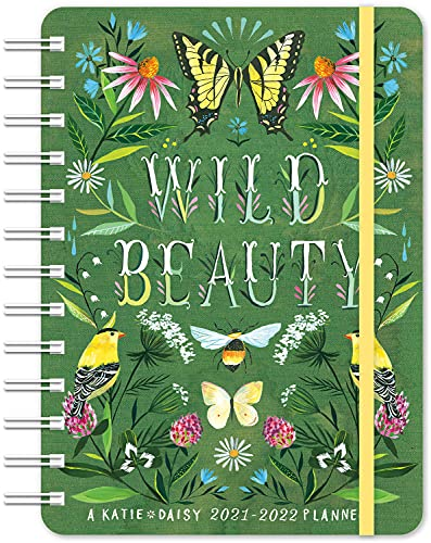 """Katie Daisy 2021 - 2022 On-the-Go Weekly Planner: 17-Month Calendar with Pocket (Aug 2021 - Dec 2022, 5"""" x 7"""" closed): Wild Beauty"""