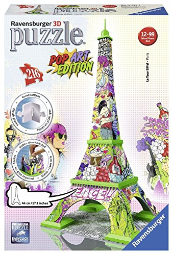 Ravensburger 3D-Puzzle 12598 - Pop Art Edition, Eiffelturm, bunt