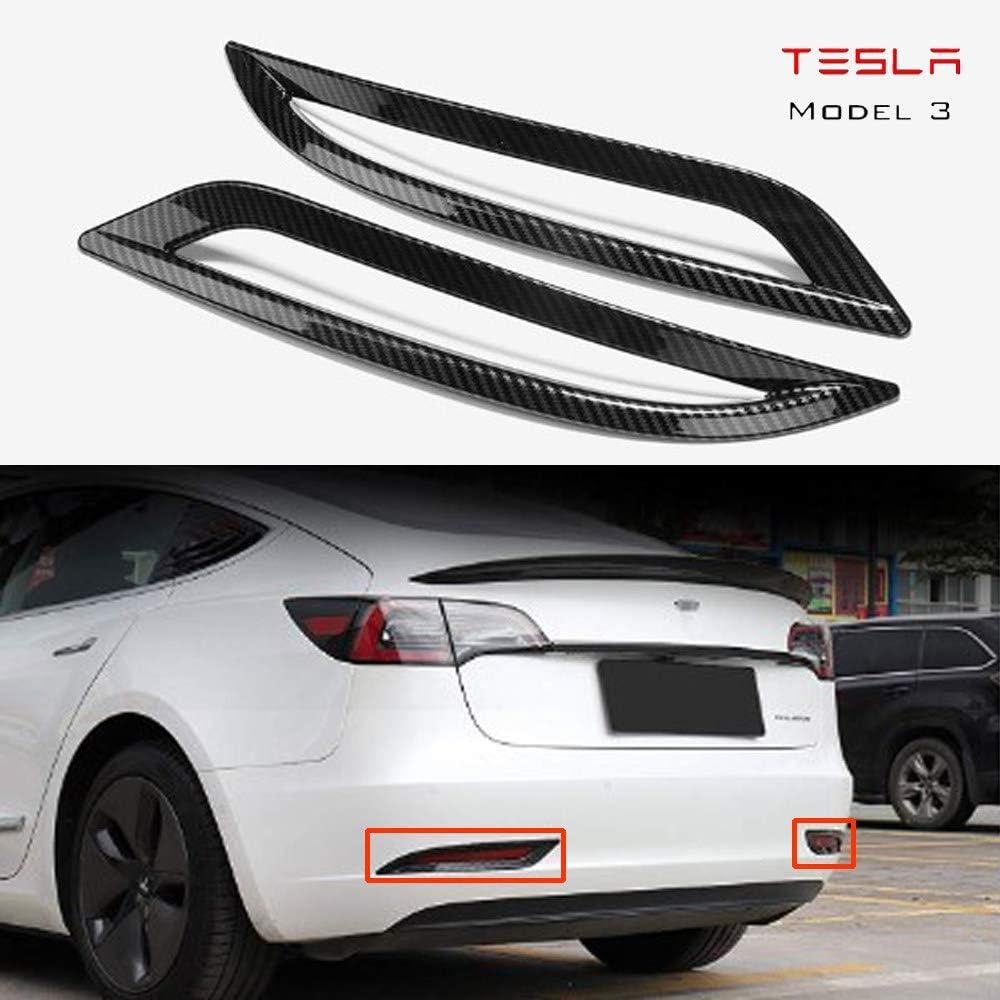 Blende Nebelschlussleuchte Für Tesla Model 3 Abs Spiegel Chrom Finish Kohlefaser B Küche Haushalt