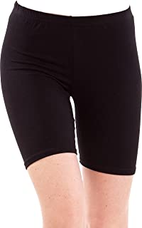 Pixie Women's Bio Washed 220 GSM Soft and Skinny Cycling Yoga Casual Shorts Pack 1