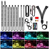 Underglow RGB Lights for Motorcycles, NTHREEAUTO LED Strip Light Kit App Bluetooth Control for Harley, Golf Cart Night Riding, 8pcs