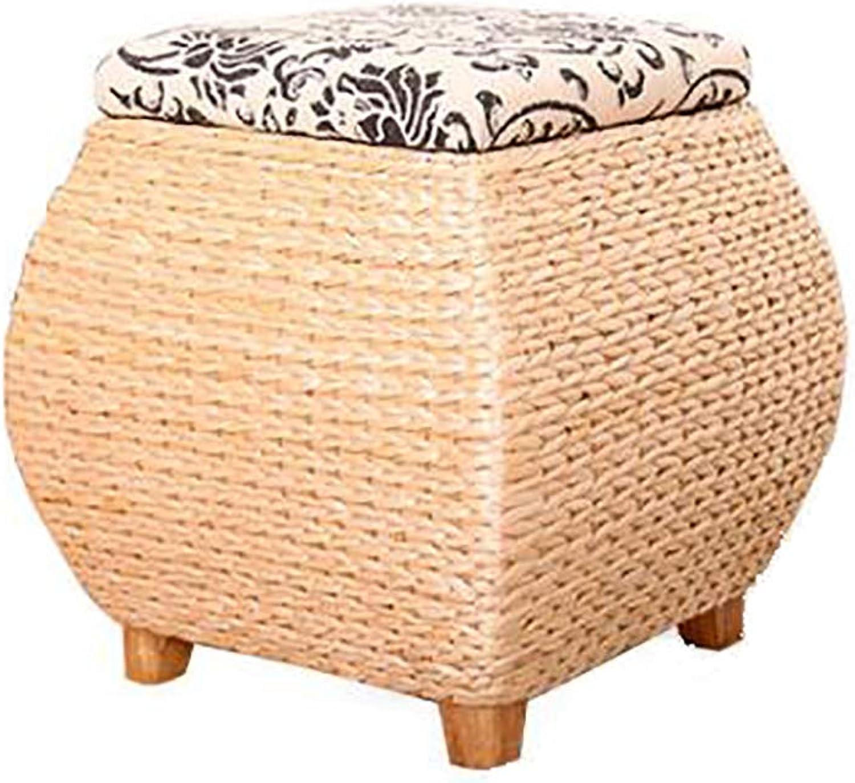 Simple Garden Storage shoes Bench Storage Stool Handmade Cloth Weaving Elegant and Versatile Home