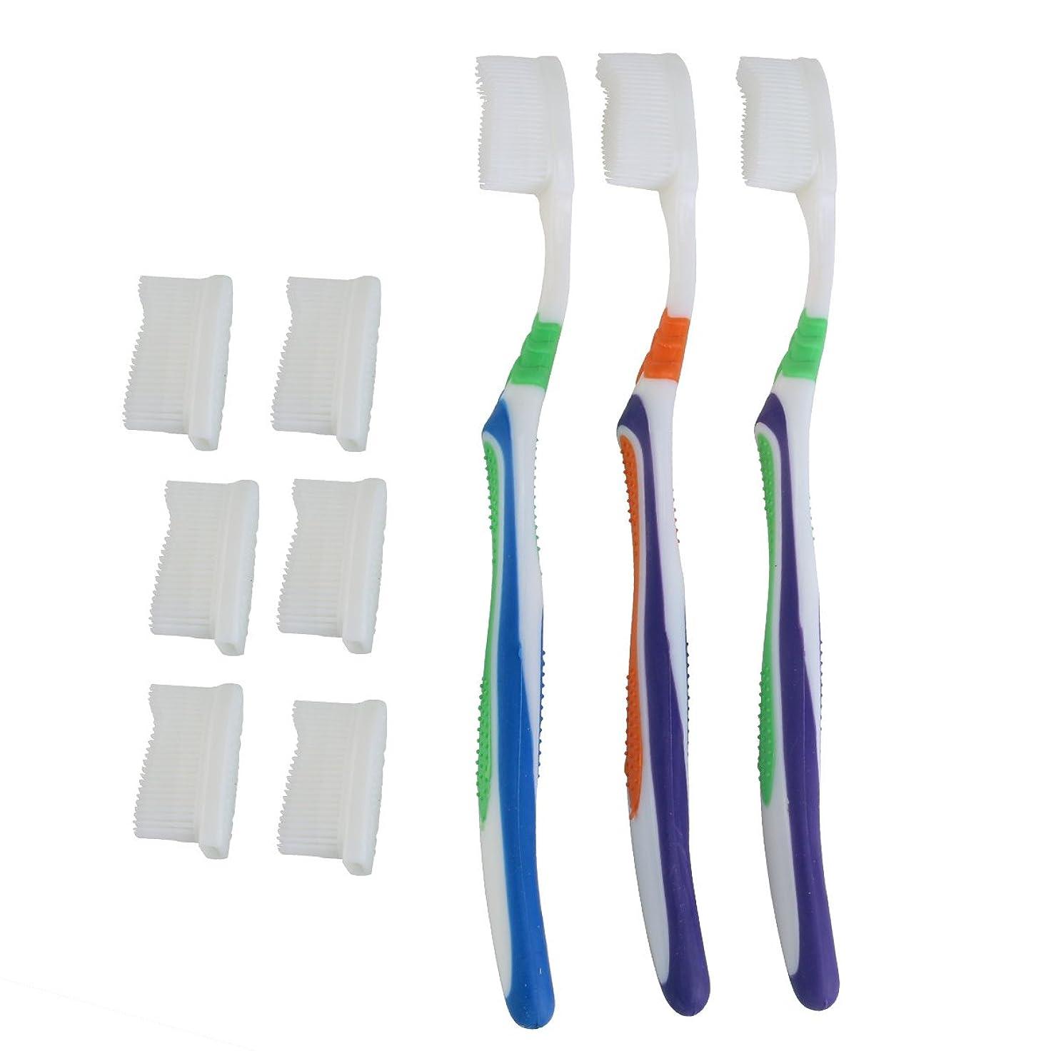 受けるデュアルせっかちTOPBATHY 子供と大人のための歯ブラシの頭の代わりとなる柔らかい歯ブラシ(ランダムカラー)