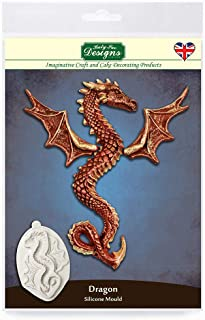 Katy Sue Serpent Dragon Silicone Mold for Cake Decorating, Cupcakes, Sugarcraft, Cookies, Crafts, Cards and Candies, Food Safe Approved, Made in The UK