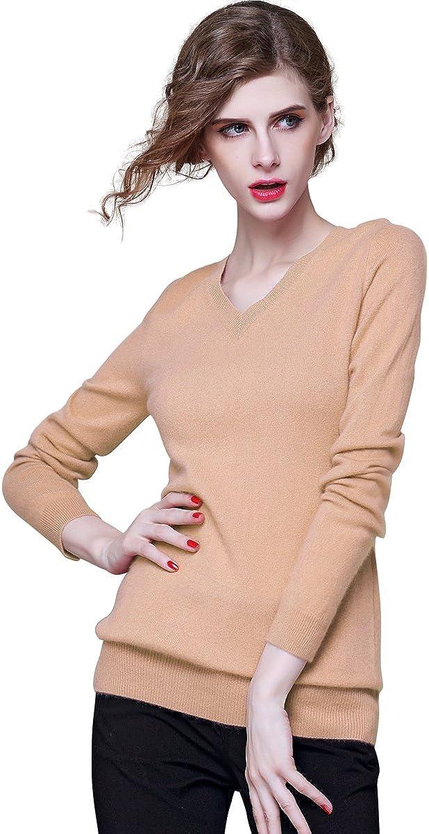 织礼 Zhili Women's V-Neck Direct sale of manufacturer Cashmere Pullover Sweater Max 73% OFF