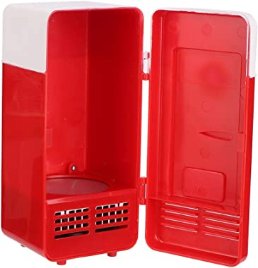 Compact Refrigerator, 3.23.47.6inch Mini Fridge, Car for Office(red)