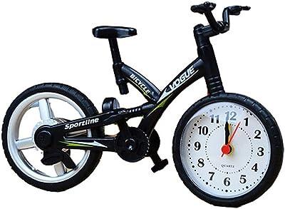 YLLTZ Despertador Bicicleta Estilo Europeo Reloj de Mesa Viento ...