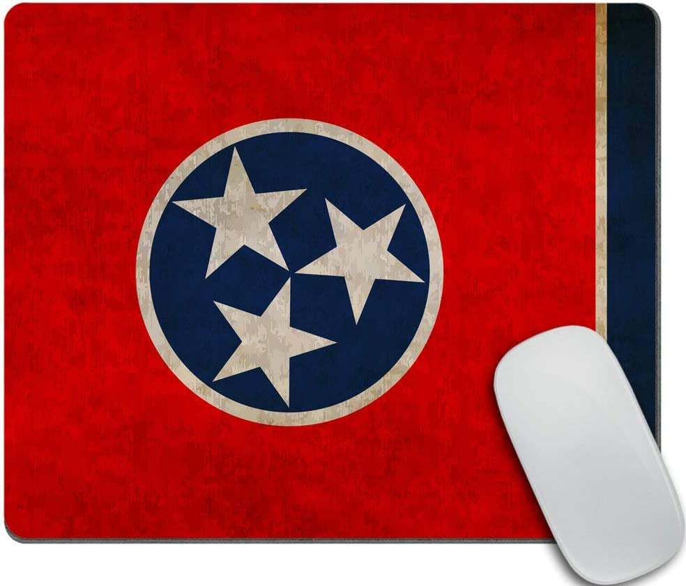 Amcove Flag of Tennessee Fashionable Mousepad Gaming Mouse P Non-Slip Rubber Direct store