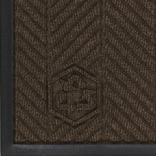 M+A Matting 2240 Waterhog Classic ECO Elite PET Polyester Entrance Indoor Floor Mat, SBR Rubber Backing, 6' Length x 4' Width, 3/8