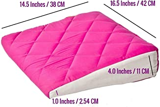 Get It Wedge Baby Pillow with Quilted Cover (Pink Extra Large)