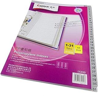 فواصل  بلاستيك A4 ملفات 1 - 31  من كوميكس IX899