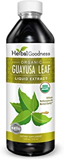 Guayusa Leaf Extract - Clean Energy Boost Drink - Brain Clarify & Focus - Fat Burner Natural Caffeine - Coffee Alternative...