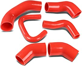 For Mitsubishi Lancer Evolution Turbo Intercooler Silicon Hose Piping Kit Set (Red) - 8 9 VIII IX